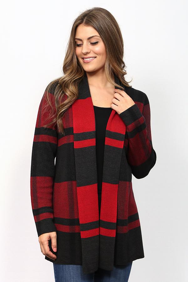 Leo /& Nicole Womens Missy Open Cardigan Sweater with Novelty Stitch